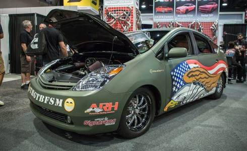Photo of PriuSRT8: Hellcat powered Prius. Savagery has a face..