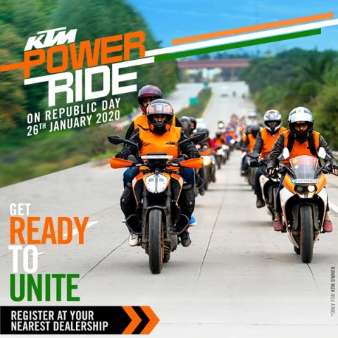 Photo of KTM Power Ride announced for Republic Day