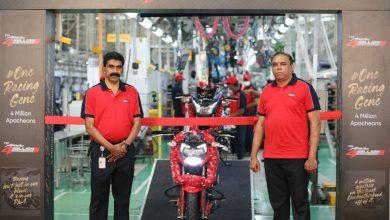 Photo of TVS Apache crosses the 4 Million global sales milestone