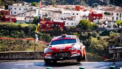 Photo of Team MRF Tyres faces challenging day in Rally Islas Canarias