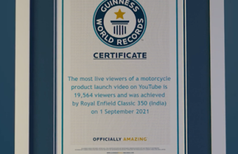 Photo of Royal Enfield Rides With The Guinness World Records Title